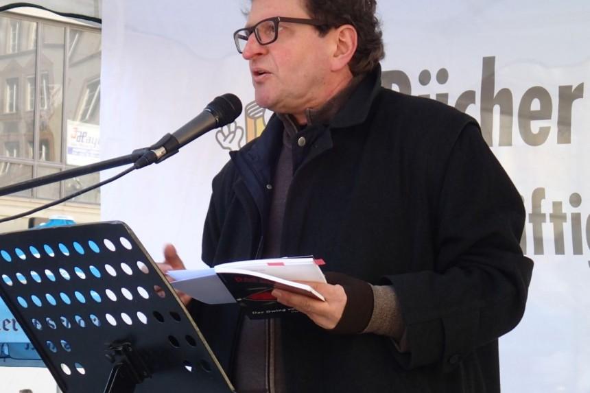 Anton G. Leitner am Marienplatz