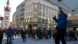 Georg Eggers am Marienplatz