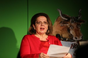 Hochstadter Stier 2015: Kandidatin Evelyn Fomm (Foto: Kulturwelle 5)