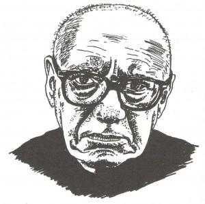 Porträtskizze von Alfons Schweiggert
