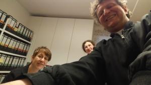Selfie zum Abschluss eines arbeits- und ergebnisreichen Tages: Kerstin Hensel, Gabriele Trinckler und Anton G. Leitner