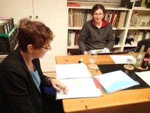 Kerstin Hensel und Gabriele Trinckler
