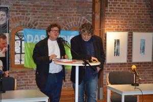 Die beiden Herausgeber von DAS GEDICHT Bd. 22, Hellmuth Opitz und Anton G. Leitner. Foto: Frank Wolfmeier