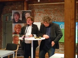 Die beiden Herausgeber von DAS GEDICHT Bd. 22, Hellmuth Opitz und Anton G. Leitner. Foto: DAS GEDICHT