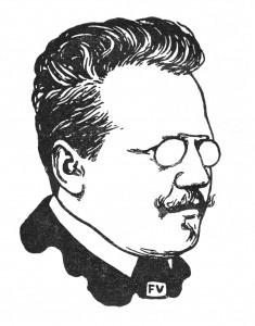 Otto J. Bierbaum, Zeichnung von Felix Valloton (1897)