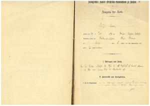 Abschrift des Reifezeugnisses von August Stramm, Seite 1