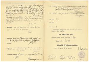 Abschrift des Reifezeugnisses von August Stramm, Seite 2