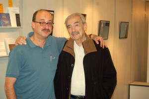 Juan Gelman und Tobias Burghardt auf der Frankfurter »Argentinien«-Buchmesse 2010. Foto: Delta-Archiv.