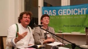 Anton G. Leitner und Melanie Arzenheimer. Foto: DAS GEDICHT