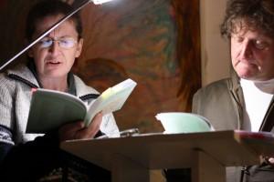 Gabriele Trinckler und Anton G. Leitner. Foto: Jan-Eike Hornauer