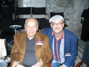 Eugen Gomringer und Tobias Burghardt beim XIII. Internationalen Festival Al-Mutanabbi in Zürich 2013 (Foto: Delta-Archiv, Stuttgart)