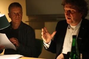 Richard Dove und Anton G. Leitner. Foto: Jan-Eike Hornauer