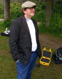 Anton G. Leitner beim Dreh am Weßlinger See. Foto: DAS GEDICHT