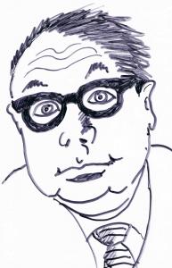 Heinz Erhard. Karikatur von Alfons Schweiggert, München