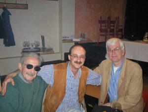Juan Gelman, Tobias Burghardt und Lasse Söderberg in Malmö (Foto Delta-Archiv, Stuttgart)