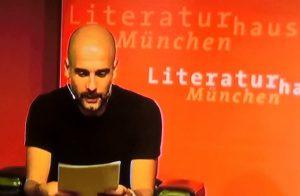 Pep Guardiola im Literaturhaus München. Foto: Delta-Archiv, Stuttgart