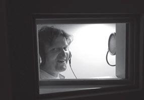 Anton G. Leitner im Tonstudio