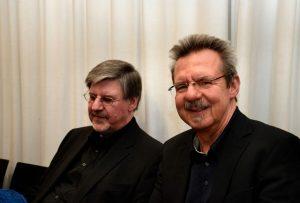 Alfons Schweiggert und Siegfried Völlger. Foto: Volker Derlath