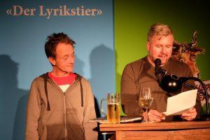 Michael Sailer und Mosef Wolff beim 9. Lyrikstier. Foto: Maren Martell