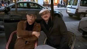 Der kubanischen Dichter Pío E. Serrano und Tobias Burghardt (Foto: Delta-Archiv, Stuttgart)