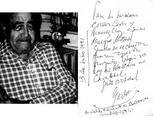 Gastón Baquero – Portrait mit der Handschrift des kubanischen Dichters (Foto: Enrique Hernández-D'Jesús)