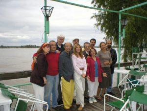 Internationale Dichtergruppe beim Poesiefestival in Rosario Argentinien. Foto: Delta-Archiv, Stuttgart