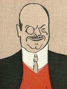 Alexander Roda Roda, Zeichnung von Albert Weisgerber (um 1912)