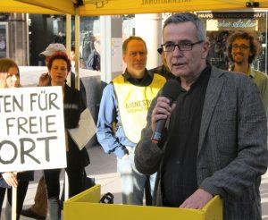 Christoph Leisten: »Poetinnen und Poeten haben auch eine politische Aufgabe!« Foto: Jan-Eike Hornauer