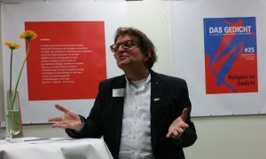 Begrüßung durch Anton G. Leitner. Foto: Das Gedicht