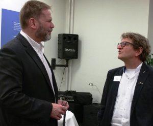 Schlussgespräch zwischen Dirk Wenzel und Anton G. Leitner. Foto: Das Gedicht