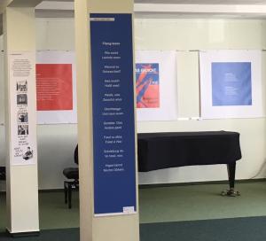 Begleitende GEDICHT-Ausstellung in den Stiftungsräumen. Gedicht: Anton G. Leitner. Foto: Annette Oellerking