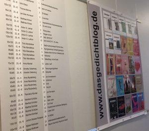 Begleitende GEDICHT-Ausstellung in den Stiftungsräumen. Foto: Annette Oellerking