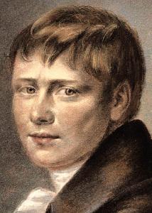 Heinrich von Kleist. Zeitgenössisches Porträt mit Kleists Signatur