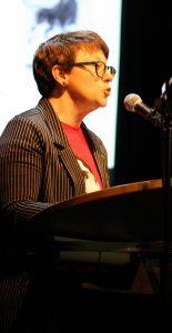 Jurorin Melanie Arzenheimer. Foto: Jan-Eike Hornauer