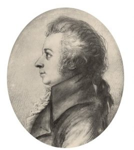W. A. Mozart. Silberstiftzeichnung, Dorothea Stock, 1789