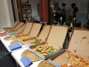 Pizza zur After-Show-Party