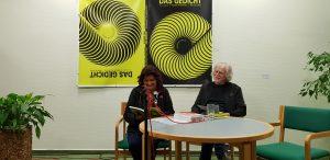 DAS GEDICHT 26-Premiere in Schleswig: Sujata Bhatt und Michael Augustin. Foto: DAS GEDICHT