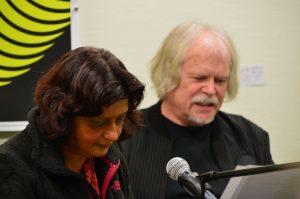 DAS GEDICHT 26-Premiere in Schleswig: Sujata Bhatt und Michael Augustin. Foto: Frank Wolfmeier