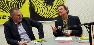 DAS GEDICHT 26-Premiere in Schleswig: Ulrich Beck und Anton G. Leitner. Foto: DAS GEDICHT